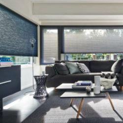 Kamer met raamdecoratie