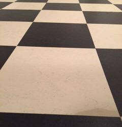 Marmoleum zwart wit